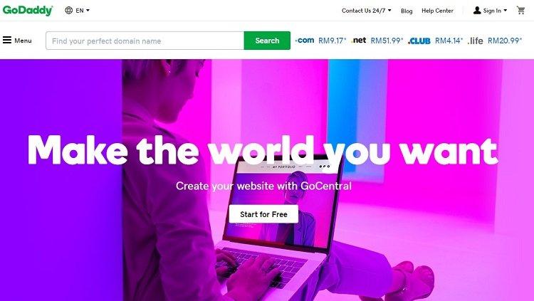 Godaddy alan adı kayıt şirketi - dünya çapında 17 milyondan fazla kullanıcıya sahip.