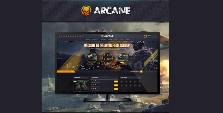 Arcane mobile game app template