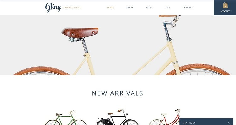 Free eCommerce website templates for Wix