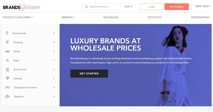 BrandsGateway: mercado en línea B2B para ropa y accesorios de diseño