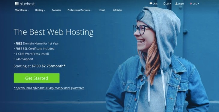 BlueHost WordPress хостингі
