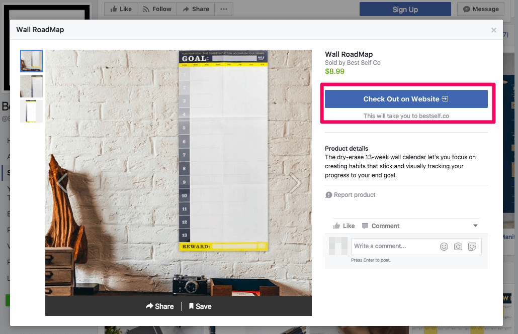 Paiement Facebook en magasin