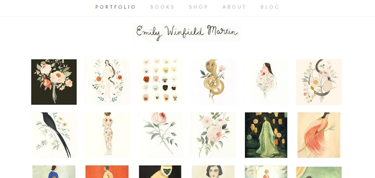 Emily Winfield Martin's portfolio website