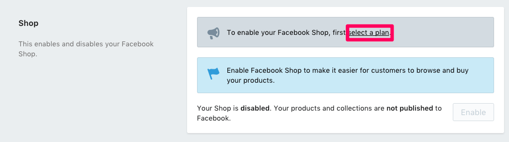 Enable Shopify store