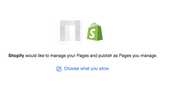 Facebook Shopify store integration