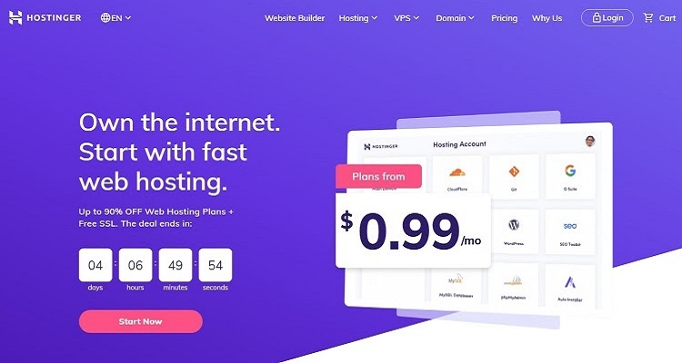 Hostinger is a innovative host and is perfect option for those who seeking an alternative to siteground.