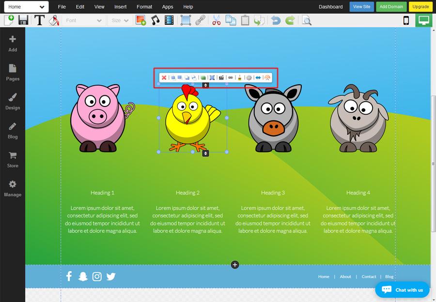 Enhance your website with WebStarts image editor.