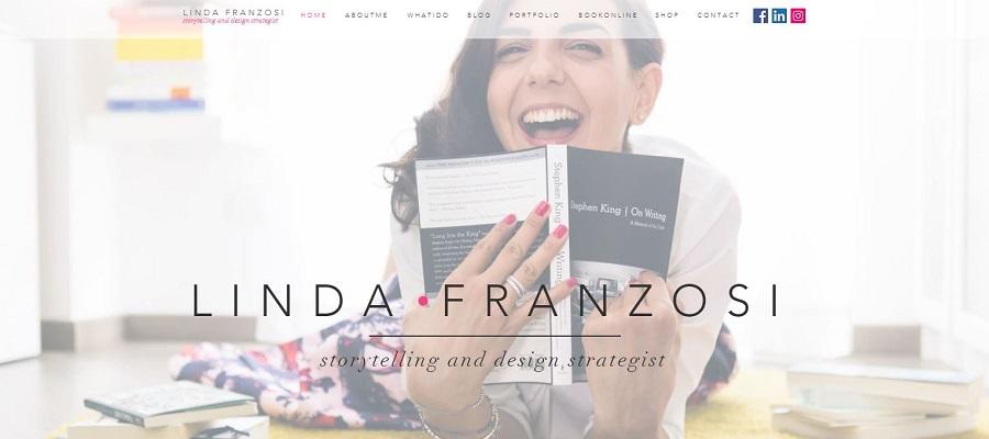 Liwebosaete tsa portfolio tse hahiloeng ka wix - Linda Franzosi