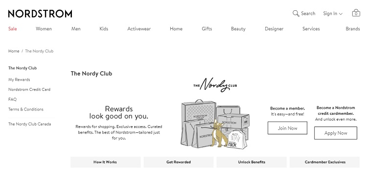 Nordstrom's Nordy Club