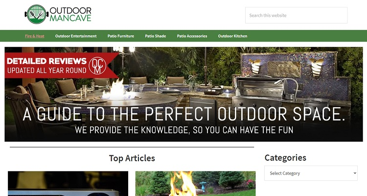 Outdoor Mancave website was sold for $138,000 on Flippa.