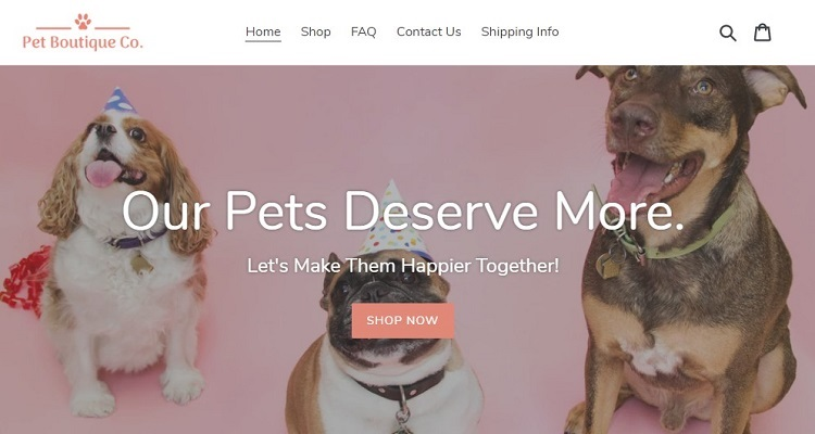 The asking price for PetBoutique - an eCommerce website in the pet niche is $275,000