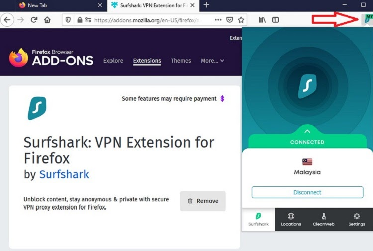 Setting up VPN on Firefox browser