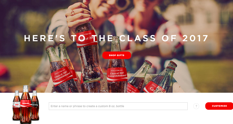 The Share-a-Coke campaign remains a great example of a highly successful user-generated campaign to increase brand awareness. The campaign allows people to personalize Coke cans.