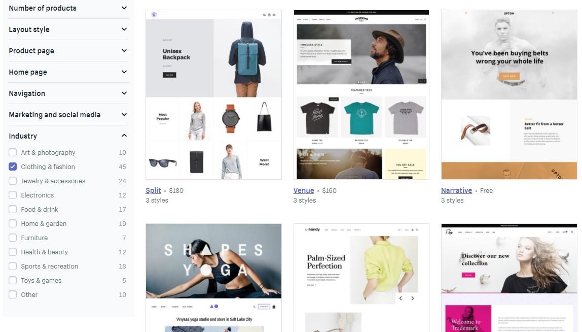 Shopify motywy