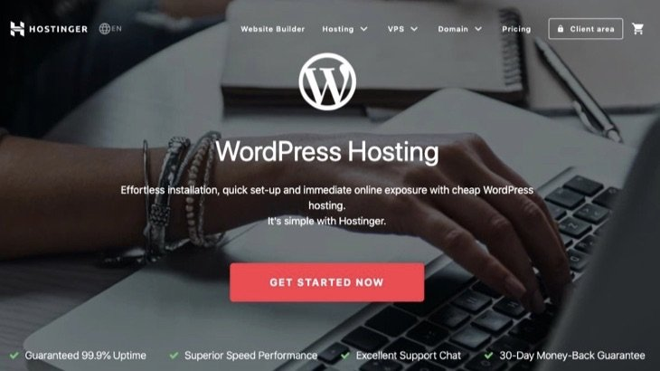Hostinger WordPress хостингі