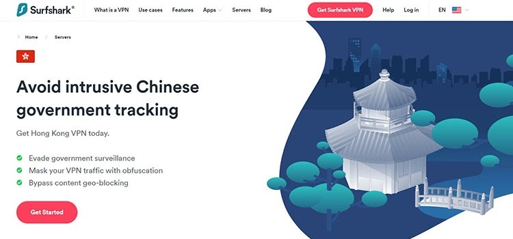 Surfshark - best VPN for Hong Kong