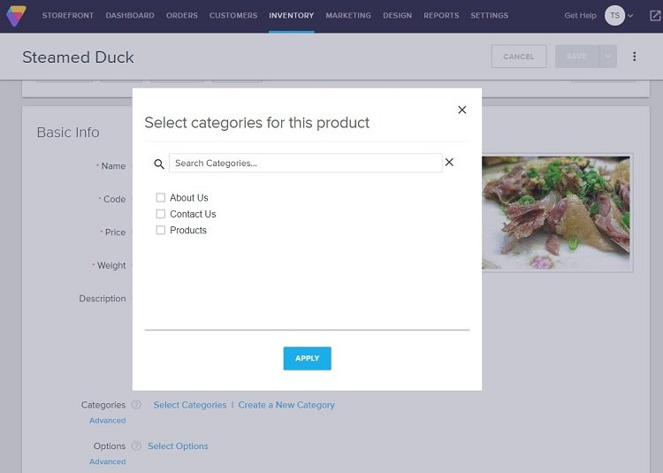 Adding product categories in volusion