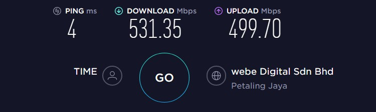 wannaflix baseline speed test
