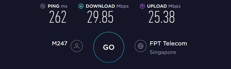 WannaFlix Singapore Server Speed Test