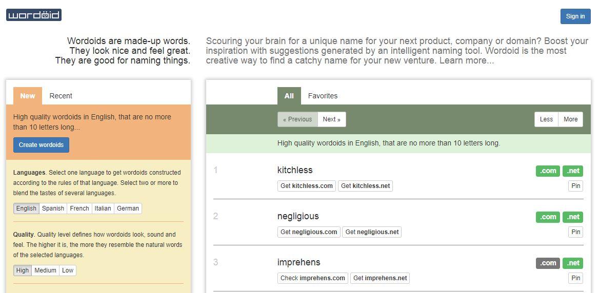 Domain Name Generators for Your