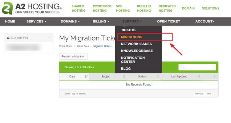 a2hosting free migration