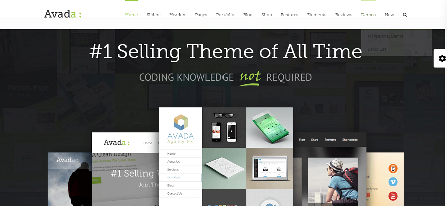 Avada is the best-selling theme on WordPress with over 400,000 copies.