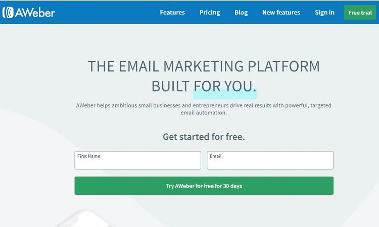 Aweber email marketing software - click here to try for free