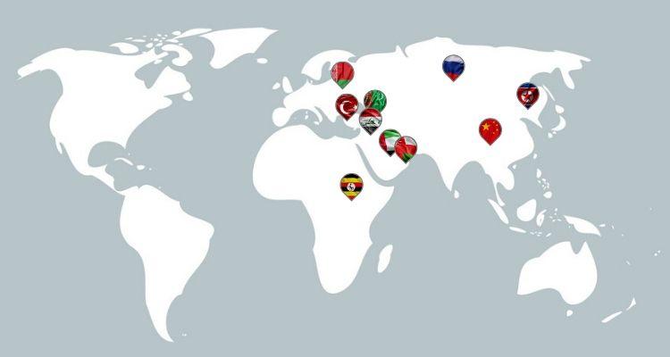 Länder, die VPN verbieten