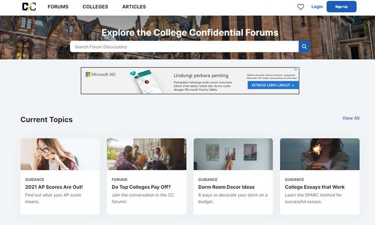 Forum Example - CollegeConfidential