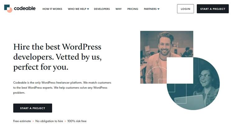 コード化可能なWebサイトのホームページ