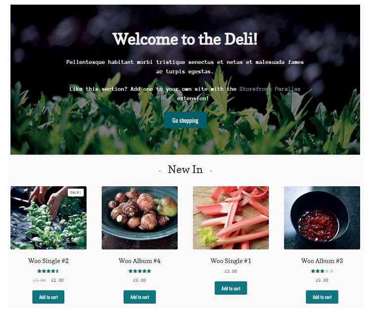 Deli Storefront - WooCommerce Templates