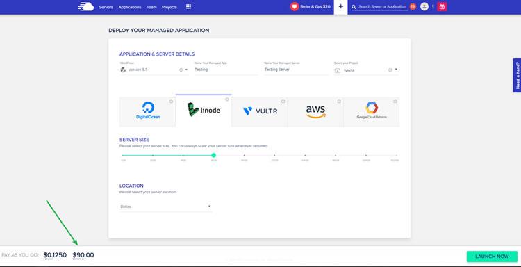 Demo - Cloudways Platform - Adding a Server