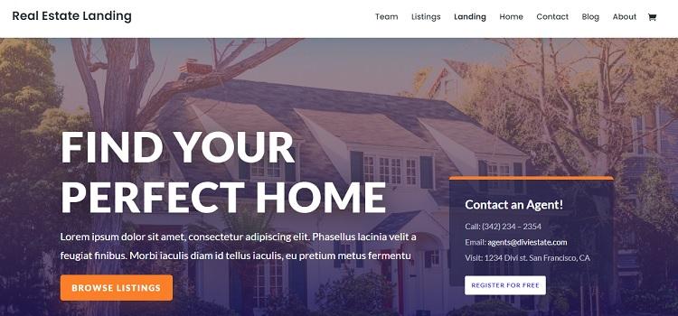 Divi - Real estate WordPress theme