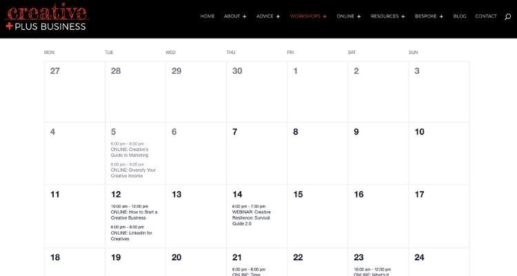 Event Calendar Showcases