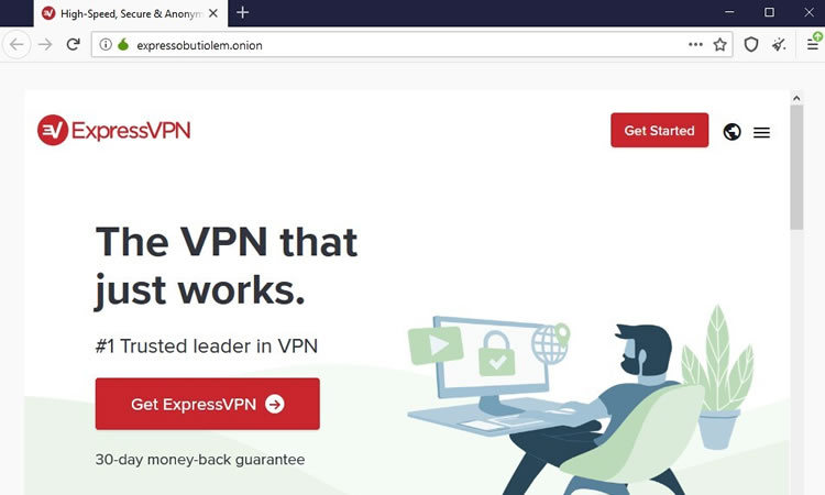 Site ExpressVPN .onion