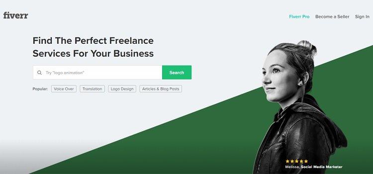 fiverr - plataforma de trabajo autónomo