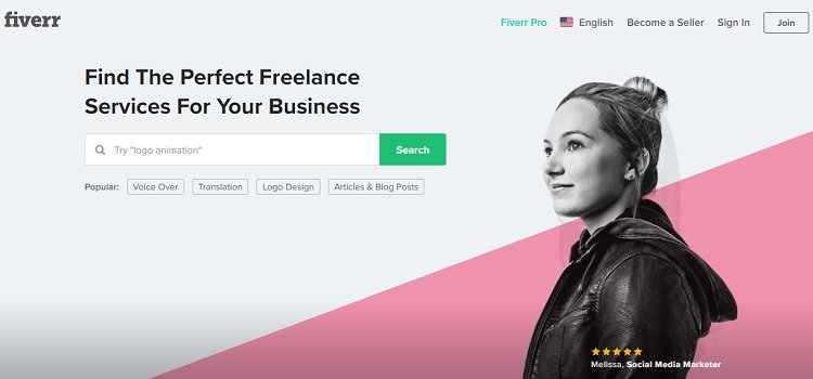 Hire a professional programmer or designer on Fiverr