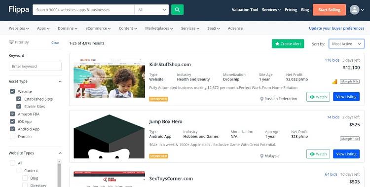 Строить и продавать сайт