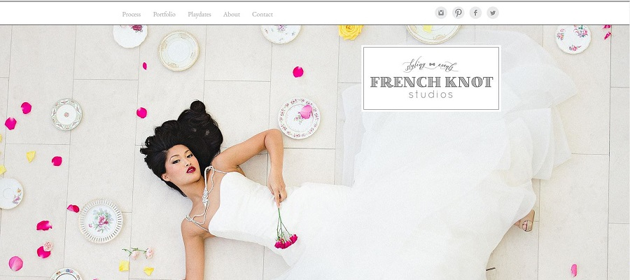 Wedding website built with Wix - French Knot Studios