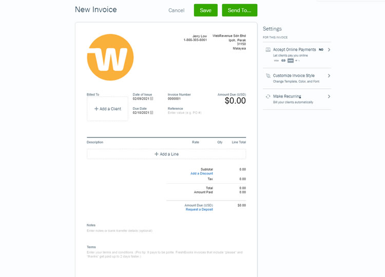 FreshBooks Invoicing Tool