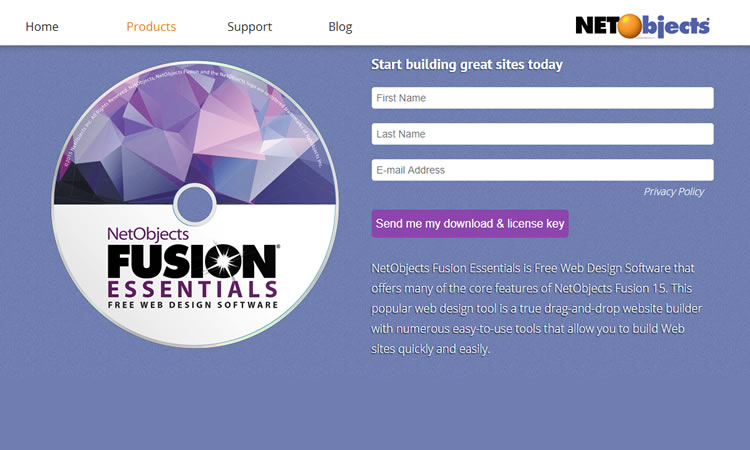 Fusion Essential - Outil de conception Web gratuit