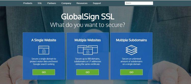 Πάροχος πιστοποιητικών GlobalSign SSL