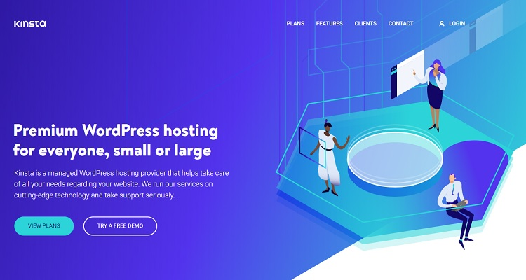 Kinsta Managed Cloud WordPress hosting