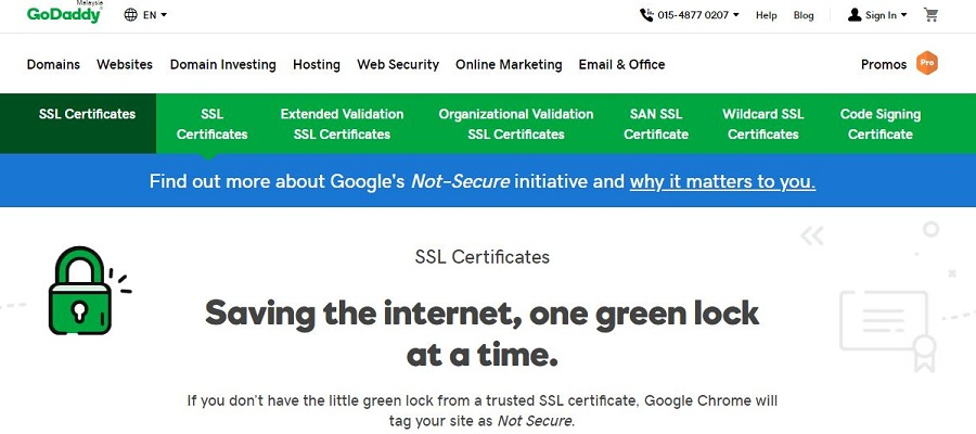 Πιστοποιητικό GoDaddy SSL