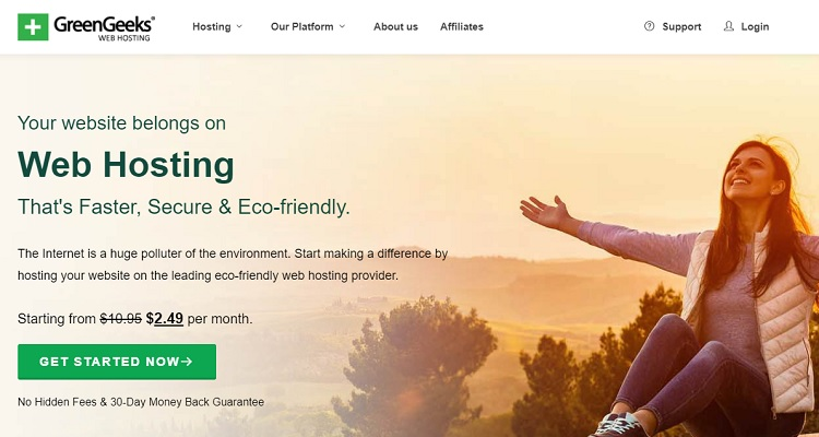 Greengeeks unlimited web hosting plan