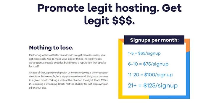 HostGator - affiliate program