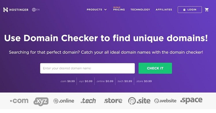 Hostinger Domain Checker