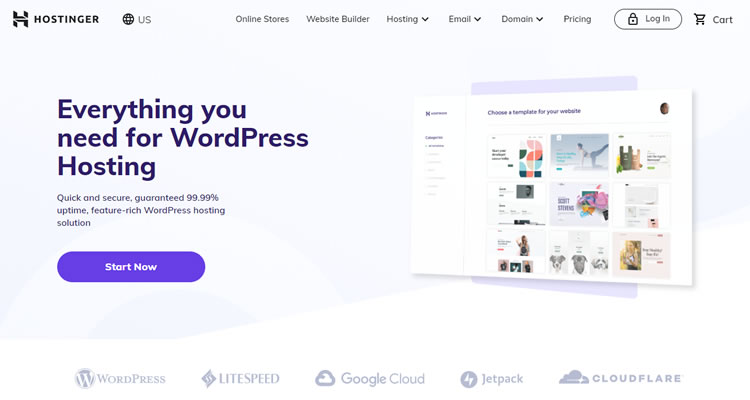 Hostinger - Top Cheap Hosting Plans for WordPress sites