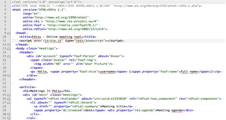 HTML code.