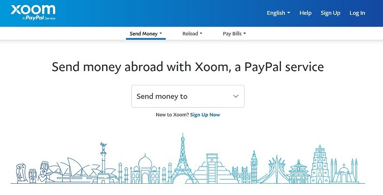 Use Xoom to send money to another country